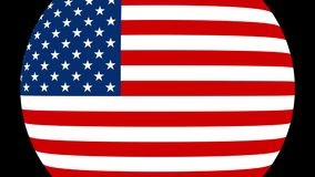 Переход 4K флага Соединенных Штатов Америки сток-видео