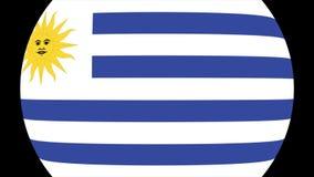Переход 4K флага Уругвая акции видеоматериалы