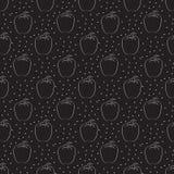 Перец Картина с точками на темной предпосылке иллюстрация вектора
