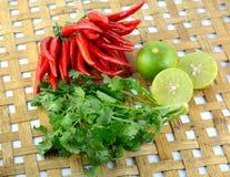 Перец красного chili горячий и пряный Стоковые Изображения
