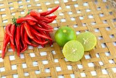 Перец красного chili горячий и пряный Стоковое Фото