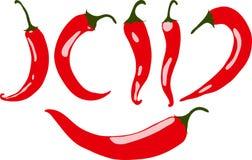 Перец красного chili, иллюстрация, Стоковое Фото