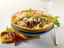 перец макаронных изделия hakeand chili горячий Стоковое фото RF