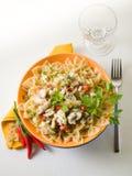 перец макаронных изделия hakeand chili горячий Стоковое Изображение