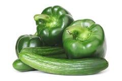 перец огурца зеленый Стоковые Фотографии RF