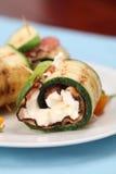 перец сыра бекона свертывает zucchini Стоковая Фотография