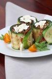 перец сыра бекона свертывает zucchini Стоковые Фотографии RF