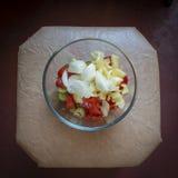 Перец лука салата томата Стоковое фото RF