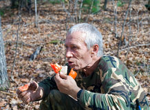перец человека еды 15 Стоковая Фотография RF