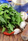 перец чеснока пука arugula свежий Стоковая Фотография