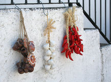 перец чеснока chili Стоковые Фотографии RF