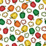 Pepper pattern vector illustration