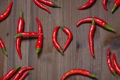 Перец Chili горячий Стоковые Изображения