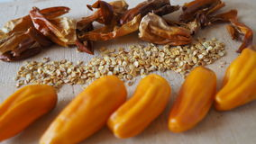 Перец Chili, свежий, сухой, семена стоковые фото