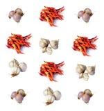 Перец chili чеснока шалотов сухой Стоковая Фотография RF