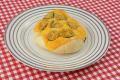 Перец Jalapeno и бейгл сыра Стоковая Фотография