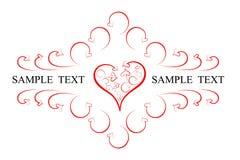 перечени сердец эмблемы Стоковые Фотографии RF