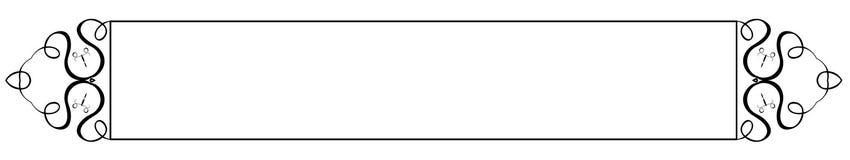 перечень знамени курчавый декоративный Стоковые Фото