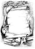 перечень знамени старый бумажный Стоковое фото RF