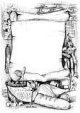 перечень меню знамени старый бумажный Стоковые Фото