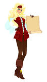 перечень пирата девушки Стоковое фото RF