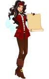 перечень пирата девушки Стоковое Фото