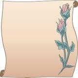 перечень рамки бутона розовый Стоковые Изображения RF