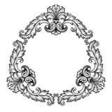 Перечень рамки вектора винтажный барочный богато украшенный Стоковое Фото