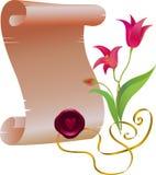 Перечень с тюльпанами иллюстрация штока