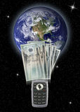 перечисление денег мобильного телефона Стоковые Изображения