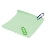 перечислите paperclips для того чтобы пожелтеть Стоковая Фотография RF
