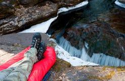 Перечисление Hiker расслабляющее, который нужно течь Стоковое фото RF