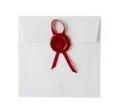Перешлите конверт или письмо загерметизированные с штемпелем уплотнения воска Стоковые Изображения