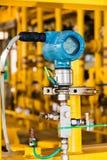 Передатчик давления в процесс нефти и газ, посылает сигнал сжульничать Стоковое Фото