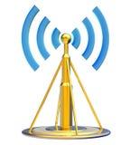 Передатчик цифров посылает сигналы от высокой башни Стоковое Изображение RF
