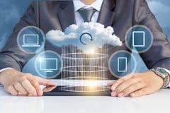 Передача данных к облаку стоковое фото rf