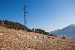 Передающие линии электричества Стоковое Изображение