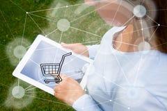 Передвижная принципиальная схема покупок Стоковое фото RF