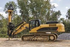 Передвижная сверля машина на строительной площадке Стоковые Фото