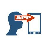 Передвижное развитие app также вектор иллюстрации притяжки corel Стоковое фото RF