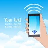 Передвижное Wi-Fi иллюстрация вектора