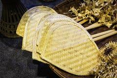 Передвижной бамбуковый вентилятор Стоковое Изображение