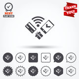 Передвижной значок оплат Smartphone, кредитная карточка Стоковое фото RF