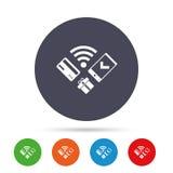 Передвижной значок оплат Smartphone, кредитная карточка Стоковая Фотография