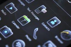 Передвижной умный дисплей телефона Стоковое фото RF