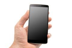 Передвижной умный телефон в руке Стоковое Изображение RF
