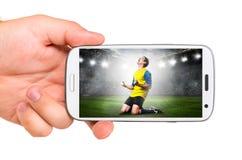 Передвижной футбол Стоковое фото RF