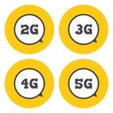 Передвижные значки радиосвязей иллюстрация штока