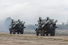2 передвижных комплекса зенитной ракеты Стоковое Изображение