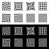 Передернутая сетка, геометрический элемент решетки Комплект формы 8 в черноте бесплатная иллюстрация